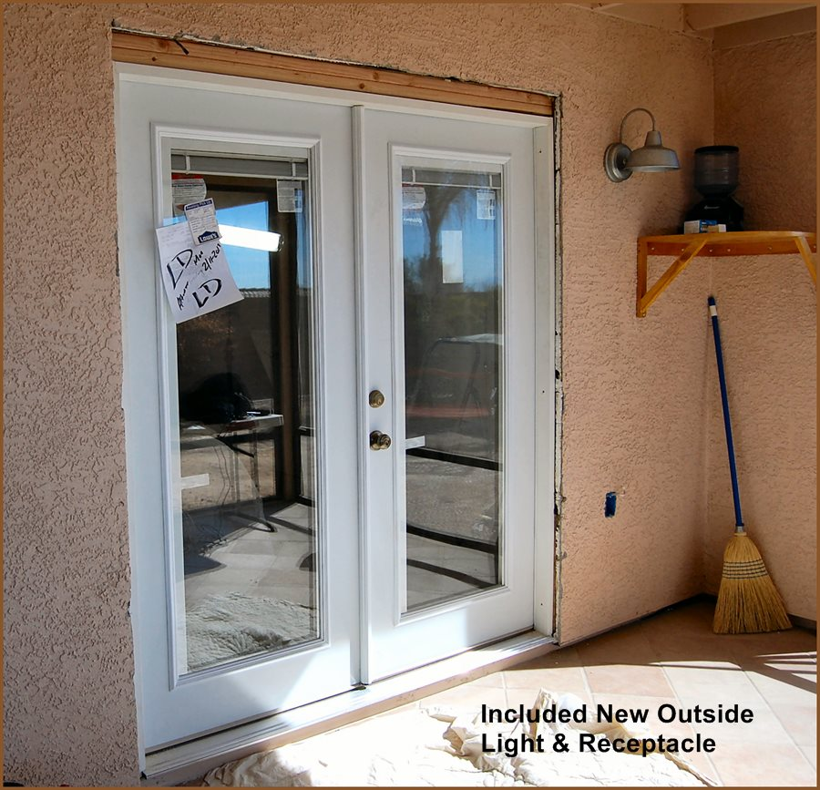 Finished Bedroom French Patio Door